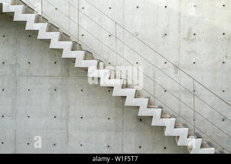 Raw stair in section angle, outdoor, exterior concept. - Stock Photo