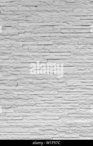 White classic stone brick are arranged to pattern on the wall for beautiful minimal and simple background. - Stock Photo