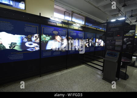 Kolkata, India. 22nd June, 2019. Mind Over Matter. An exhibition on Prof. Stephen Hawking and his works at the Birla Industrial & Technological Museum - Stock Photo