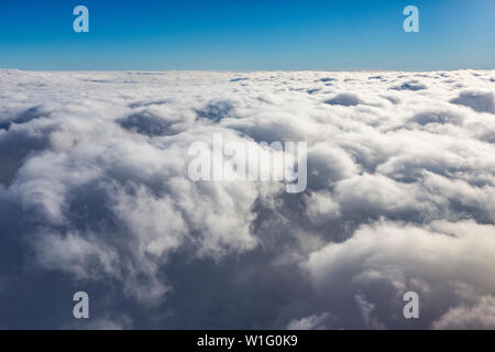 Clouds shortly before landing at svalbard, Artic, Norway - Stock Photo