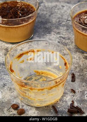 cups of coffee creme brûlée - Stock Photo