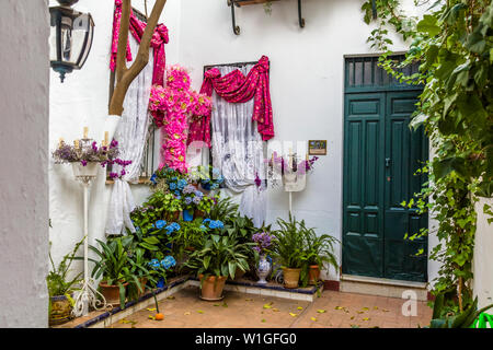 Barrio de Santa Cruz or old Jewish Quarter of Seville Spain - Stock Photo