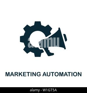 Marketing Automation vector icon illustration. Creative sign from crm icons collection. Filled flat Marketing Automation icon for computer and mobile. - Stock Photo