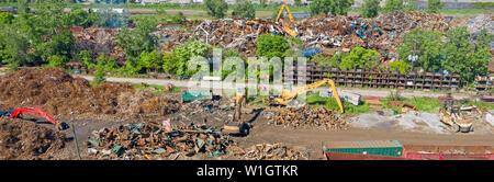 Detroit, Michigan - Scrap metal recycling yard. - Stock Photo