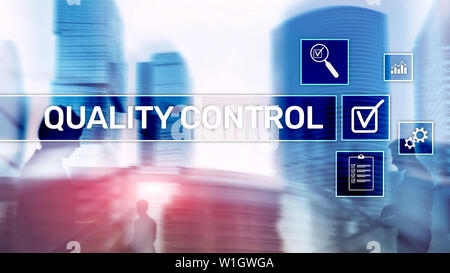 Quality control and assurance. Standardisation. Guarantee. Standards. Business and technology concept - Stock Photo