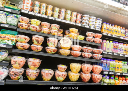 Fort Lauderdale Ft. Florida Winn-Dixie grocery store supermarket packaging product display competition prepared foods cut fruit - Stock Photo