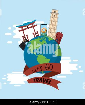 travel journey and tourism places - Stock Photo