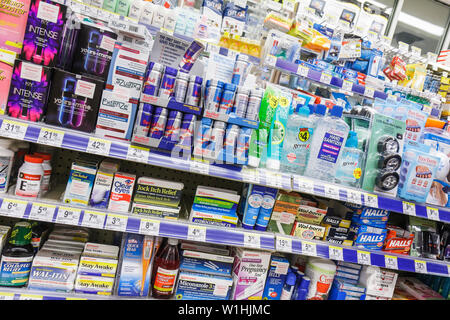 Miami Beach Florida 41st Street Arthur Godfrey Road Walgreens Walgreens drug store pharmacy chain business checkout aisle brand - Stock Photo