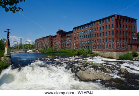 Dana Warp Textile Mill, Westbrook, Maine - Stock Photo