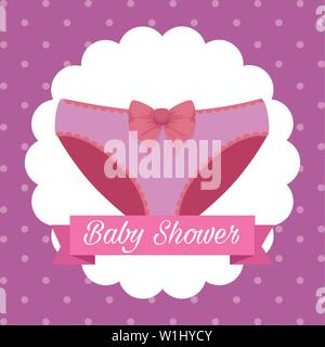 label of panty with ribbon message design - Stock Photo
