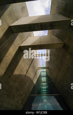 Yad Vashem, Jerusalem, literally, memorial and name, is the memorial to the Six Million Jews murdered during the holocaust in world war two. And a res - Stock Photo