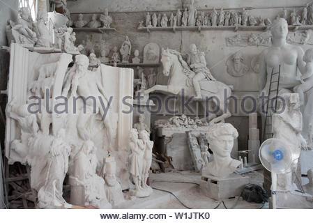 laboratori artistici nicoli, carrara, tuscany, italy - Stock Photo