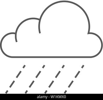 Rain icon in outline style isolated on white background
