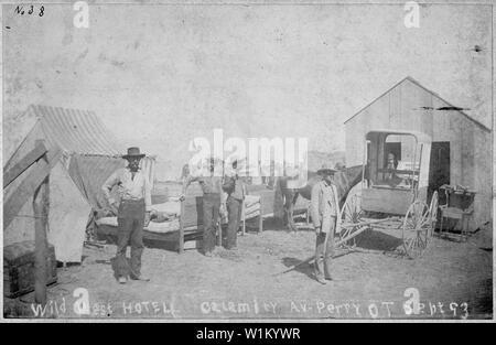 Wild West Hotel, Calamity Av., Perry, 0. T., Sept. 93. - Stock Photo