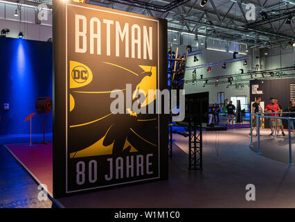 COLOGNE, GERMANY - JUN 28th 2019:  Impressions from CCXP Cologne: Celebrating 80 Years of Batman - Stock Photo