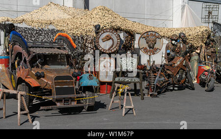 COLOGNE, GERMANY - JUN 28th 2019: Medieval Market at CCXP Cologne, a four day fan convention - Stock Photo