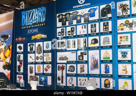 COLOGNE, GERMANY - JUN 28th 2019: Impressions at CCXP Cologne: Blizzard Merchandise - Stock Photo