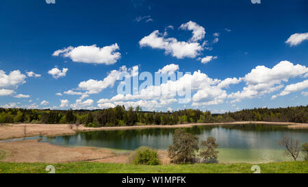 Lake Fohnsee near Iffeldorf, Osterseen, Easter Lakes, Upper Bavaria, Germany, Europe - Stock Photo