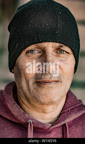 street portrait of a middle aged man in Philadelphia - Stock Photo