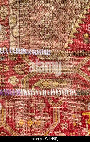 Details of Turkish carpet, Turkey - Stock Photo