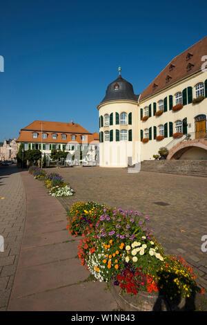 Castle Bergzabern, Bad Bergzabern, Southern Wine Route, Palatinate, Rhineland-Palatinate, Germany - Stock Photo