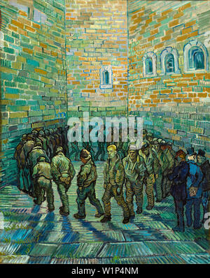 Vincent Van Gogh, Prisoners Exercising, The Prison Courtyard, painting, 1890 - Stock Photo