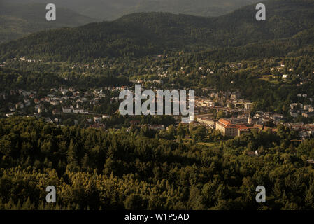 view from ruin Hohenbaden (old castle) at Baden-Baden, spa town, Baden-Wuerttemberg, Germany