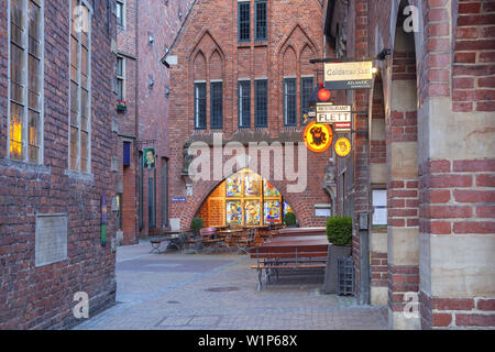 Brick houses in Boettcher street, Hanseatic City Bremen, Northern Germany, Germany, Europe - Stock Photo