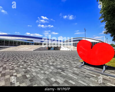 29 june 2019 Heerenveen, The Netherlands Speedskating Training on Summerice  Thialf - Stock Photo