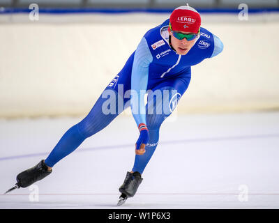 29 june 2019 Heerenveen, The Netherlands Speedskating Training on Summerice - Stock Photo