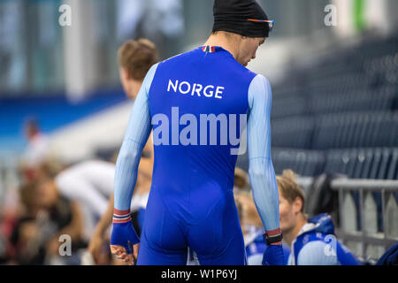 29 june 2019 Heerenveen, The Netherlands Speedskating Training on Summerice  Norge - Stock Photo