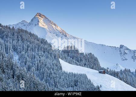 Ahornspitze mountain in the Zillertal Alps, Hippach, Mayrhofen, Tirol, Austria, Europe - Stock Photo