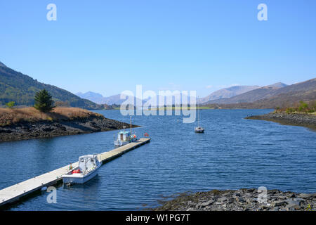 View of Loch Leven from Ballachulish near Glencoe in Northern Scotland - Stock Photo