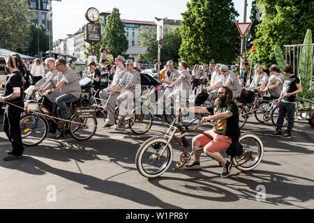 Parade for legalising Cannabis, Kreuzberg, Berlin - Stock Photo