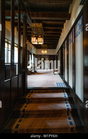 Interior of Hill House designed for Walter Blackie by Charles Rennie Mackintosh, Helensburgh, Scotland, UK - Stock Photo