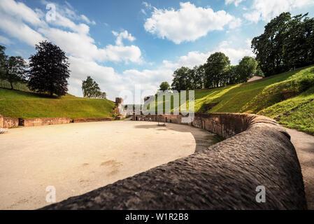 UNESCO World Heritage Trier, amphitheater, Trier, Rhineland-Palatinate, Germany - Stock Photo