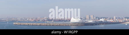 From the Perspective of Cruise terminal Porto de Leixoes - Portugal - Stock Photo