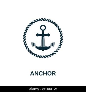 Anchor vector icon illustration. Creative sign from icons collection. Filled flat Anchor icon for computer and mobile. Symbol, logo vector graphics. - Stock Photo