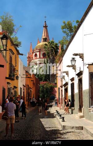 La Parroquia, Parish of San Miguel de Allende, Guanajuato, Mexico. - Stock Photo