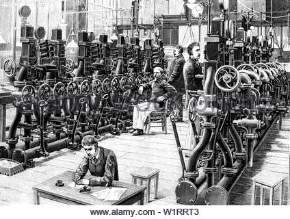 Telegraphy And Telegrams Room In 1888. - Stock Photo