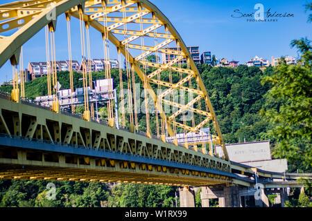 Fort Pitt Bridge - Stock Photo
