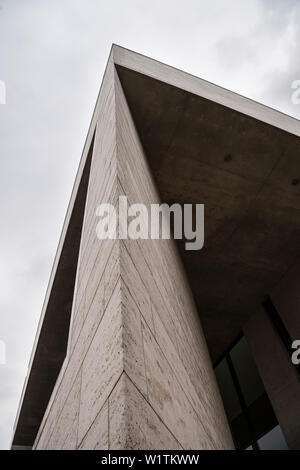 detail of modern architecture of Georg Schaefer museum, Schweinfurt, Under Franconia, Bavaria, Germany - Stock Photo