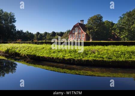 Rueschhaus Haus near Muenster, Muensterland, North-Rhine Westphalia, Germany - Stock Photo