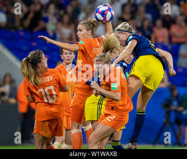 Lyon, France. 03rd July, 2019. Holland and Sweden. World Cup Qualification Football. FIFA. Held at the Lyon Stadium in Lyon, France (Photo: Richard Callis/Fotoarena) Credit: Foto Arena LTDA/Alamy Live News - Stock Photo