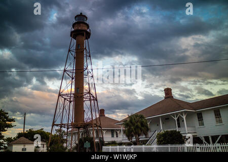The very beauty of the light station, Old Point Ybel Light - Stock Photo