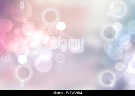 Abstract vivid summer bokeh in soft color style background with free space for text. - Stock Photo