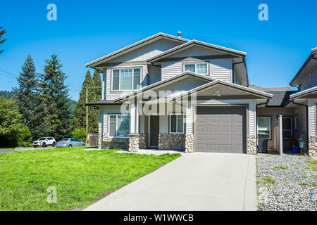 Brand new afordable family home, half duplex building - Stock Photo
