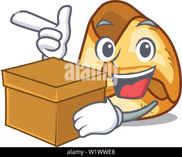 With box fusi istriani isolated with the character - Stock Photo