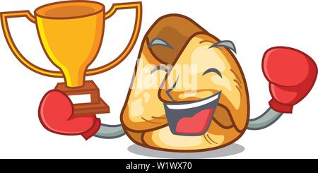 Boxing winner fusi istriani in the cartoon shape - Stock Photo