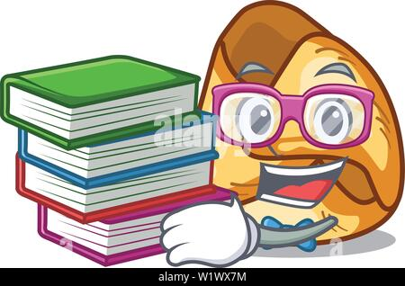 Student with book fusi istriani in the cartoon shape - Stock Photo